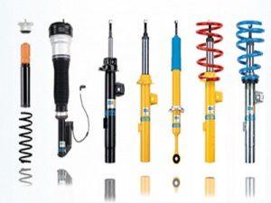 Tipos de amortiguadores, partes y montaje